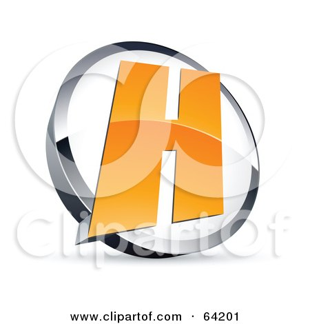 Royalty-Free (RF) Clipart Illustration of a Pre-Made Logo Of A Letter H In A Circle by beboy