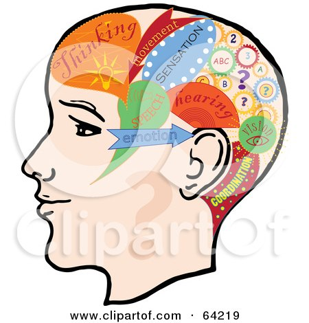 Royalty-Free (RF) Clipart Illustration of a Profile Of A Head With ...