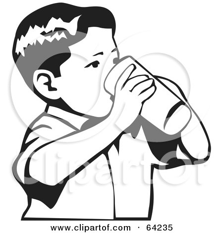 Royalty-Free (RF) Clipart Illustration of a Drowning Boy ...