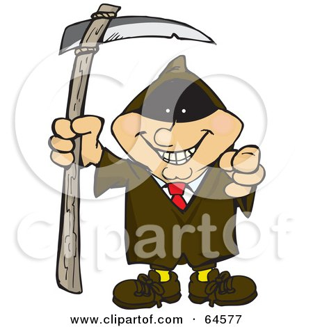Royalty-Free (RF) Clipart Illustration of a Businessman Grim Reaper by Dennis Holmes Designs