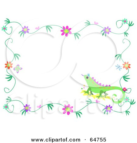Free Flower Border Clip Art. Art Print Description