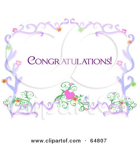 Clipart Congratulations Text With Wedding Bands Over Blue ...