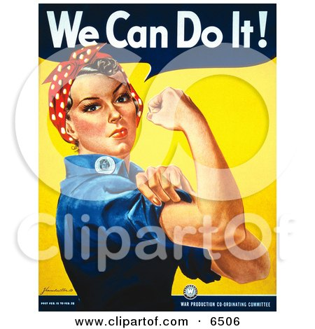 We Can Do It Rosie The Riveter Clipart