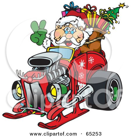 Royalty Free Rf Clipart Illustration Of A Peaceful Santa