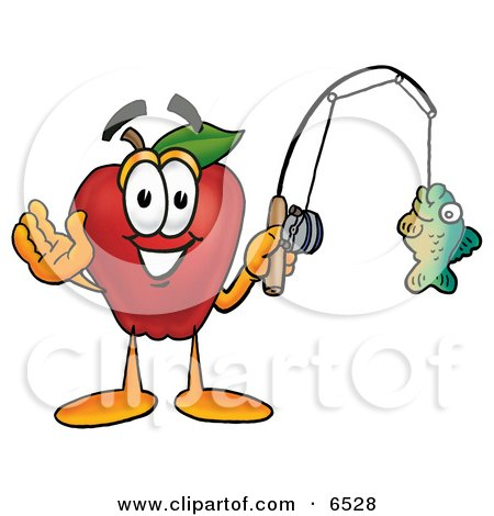 fishing rod clipart. on a Fishing Pole Clipart
