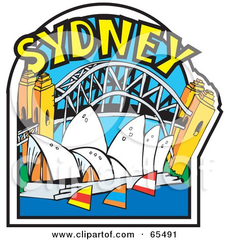 Clipart Illustration Of The Arched Sydney Harbour Bridge
