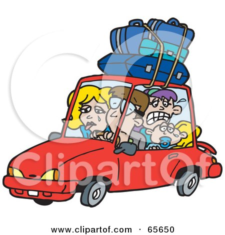 Royalty-Free (RF) Clipart Illustration of a Family On A ...