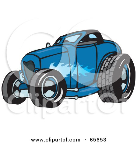 Royalty-Free (RF) Hotrod Clipart, Illustrations, Vector Graphics #1