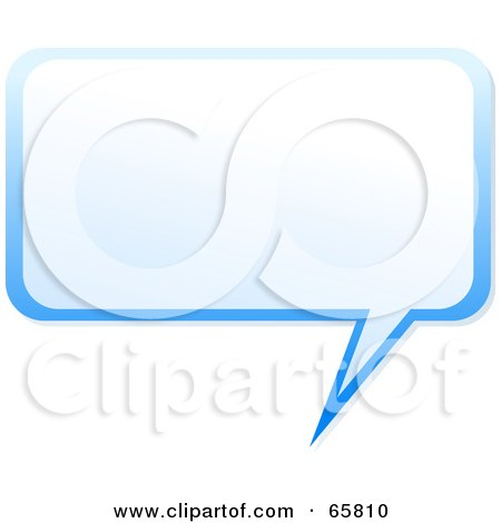 Royalty-Free (RF) Clipart Illustration of a Squared Blue Speech Bubble by Prawny