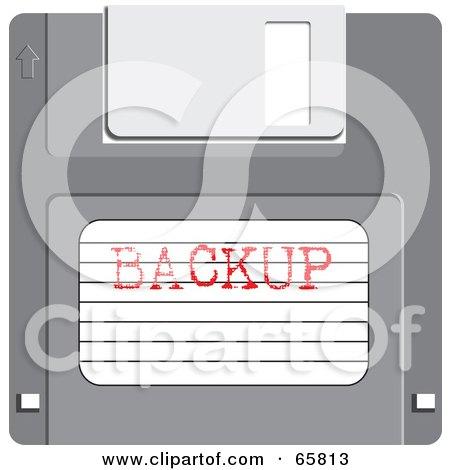 Royalty-Free (RF) Clipart Illustration of a Backup Floppy Disk by Prawny