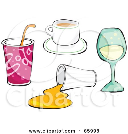 Royalty-Free (RF) Clipart Illustration of a Digital Collage Of Drinks by Prawny