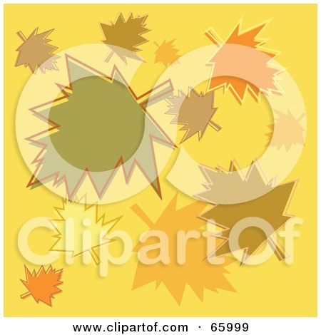 Royalty-Free (RF) Clipart Illustration of a Group Of Colorful Autumn Leaves by Prawny