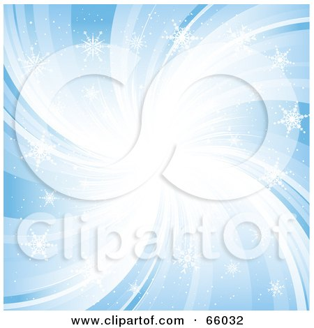 Royalty-Free (RF) Clipart Illustration of a Blue Snowflake Swirl Background by KJ Pargeter