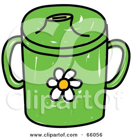 Royalty-Free (RF) Clipart Illustration of a Green Baby Beaker Cup by Prawny