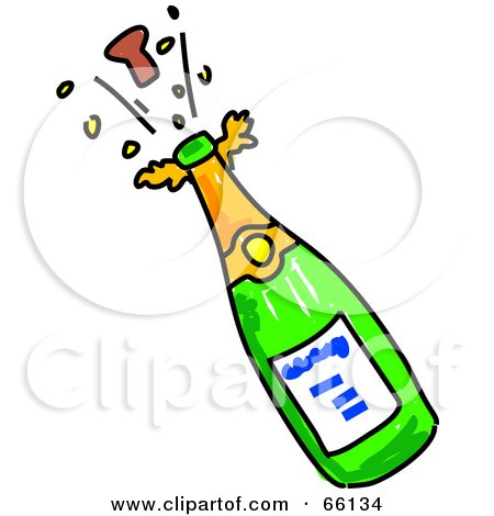 Free on Royalty Free  Rf  Clipart Illustration Of A Cork Popping Off Of A