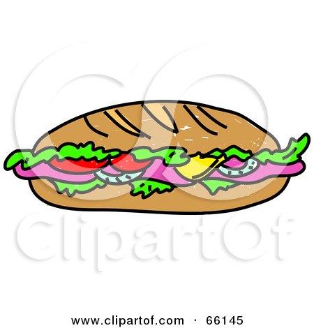 Royalty Free Rf Submarine Sandwich Clipart