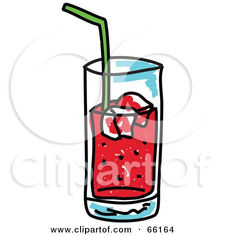 Royalty-Free (RF) Clipart Illustration of a Sketched Glass of Soda by Prawny
