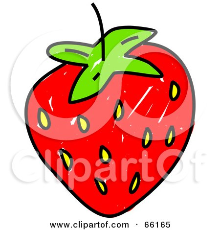 Royalty-Free (RF) Clipart Illustration of a Sketched Strawberry by Prawny