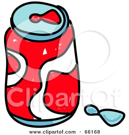 Royalty-Free (RF) Clipart Illustration of a Sketched Can of Soda by Prawny