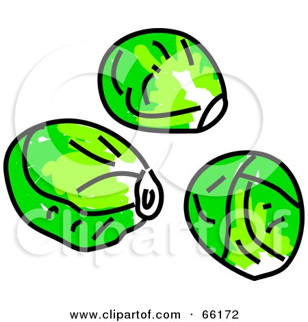Royalty Free Rf Clipart Of Brussels Sprouts