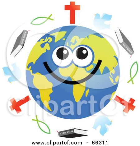 royalty free rf clipart illustration of a blue christian fish by rh clipartof com Smiley Face with Halo Winking Smiley Face Clip Art