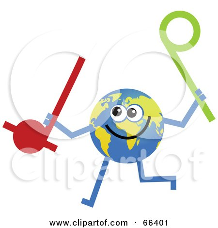 Royalty-Free (RF) Clipart Illustration of a Global Character Holding Music Notes by Prawny
