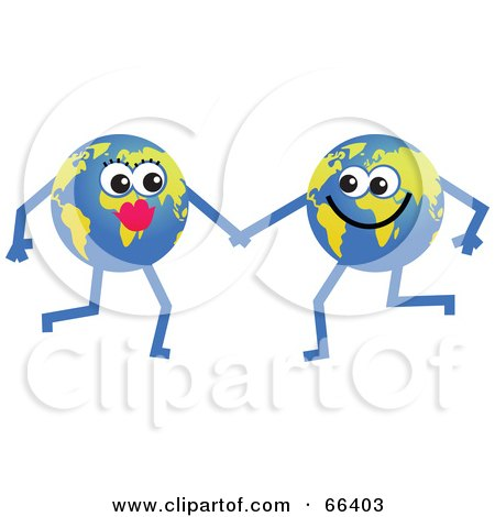 Royalty-Free (RF) Clipart Illustration of Global Characters Holding Hands by Prawny