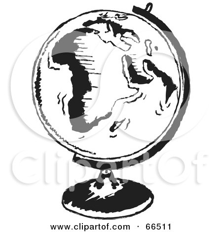 royalty free rf clipart illustration of a black and white mounted globe by prawny 66511 clipart of