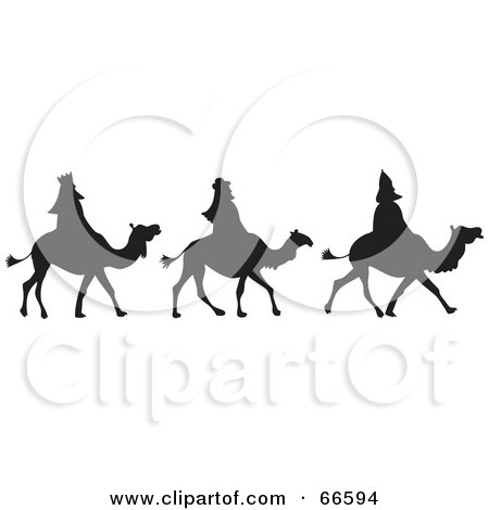 Royalty-Free (RF) Clipart Illustration of The Three Silhouetted ...