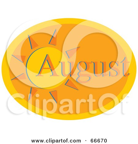 Royalty-Free (RF) Clipart Illustration of a Month Of August Hot Sun by Prawny