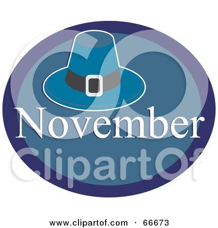 Royalty-Free (RF) Clipart Illustration of a Month Of November Pilgrim Hat by Prawny