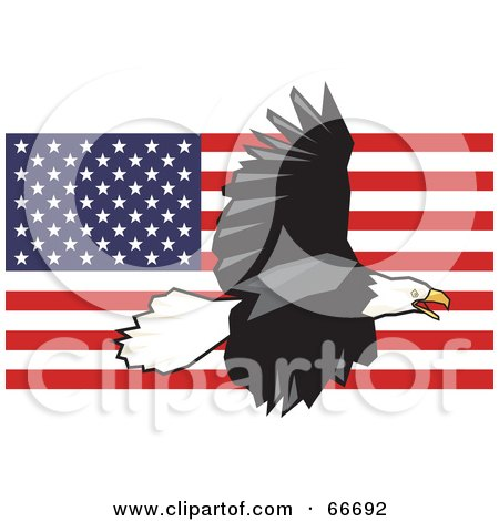 Royalty-Free (RF) Clipart Illustration of a Majestic Bald Eagle ...