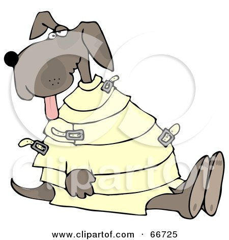 Royalty-Free (RF) Clipart Illustration of a Crazy Dog in a ...