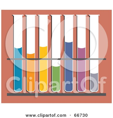 Royalty-Free (RF) Clipart Illustration of Test Tubes With Colorful Liquids by Prawny