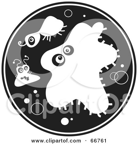 Bacteria clipart black and white black and white circle of