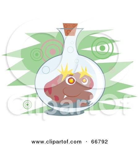 Royalty-Free (RF) Clipart Illustration of a Germ in a Jar by Prawny