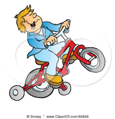 Bikes With Training Wheels For Boys Boy Riding A Red Bike With