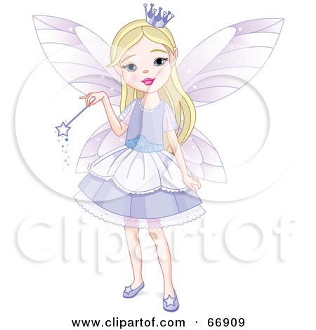 Pretty Blond Fairy Princess Girl In A Purple Dress Posters, Art Prints