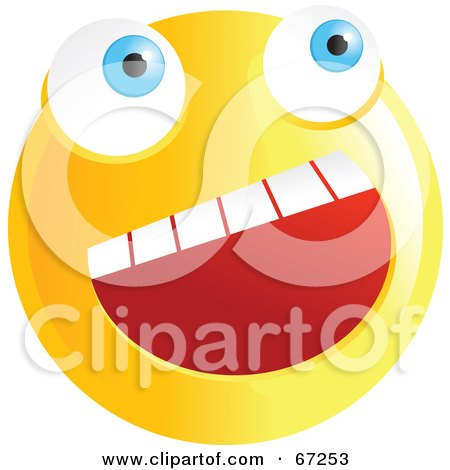 Royalty-Free (RF) Clipart Illustration of a Happy Yellow Emoticon Face Smiley by Prawny