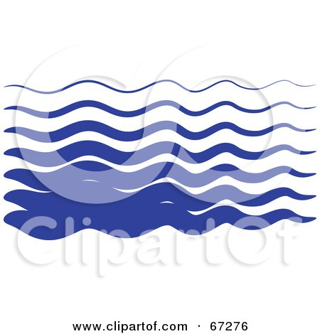 Royalty-Free (RF) Clipart Illustration of Blue Wavy Lines by Prawny