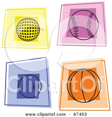 Royalty-Free (RF) Clipart Illustration of a Digital Collage Of Colorful Athletic Squares by Prawny