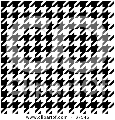 Royalty-Free (RF) Clipart Illustration of a Tight Weave Black And White Houndstooth Patterned Background by Arena Creative