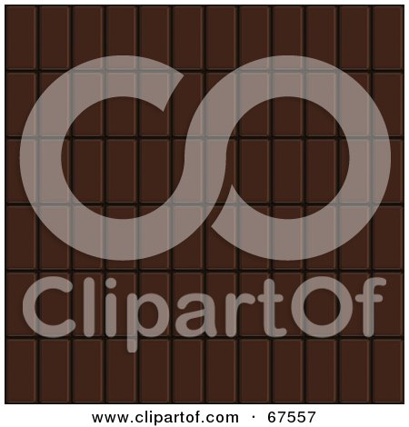 Royalty-Free (RF) Clipart Illustration of a Background Of Dark Chocolate Bars In Rows by Arena Creative