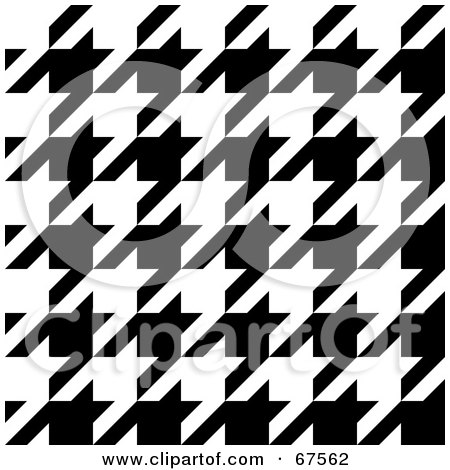 Royalty-Free (RF) Clipart Illustration of a Large Weave Black And White Houndstooth Patterned Background by Arena Creative