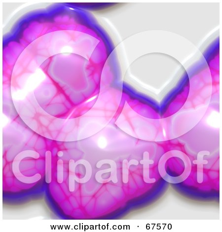 Royalty-Free (RF) Clipart Illustration of a Background Of Pink And Purple Brain Tissue On White by Arena Creative