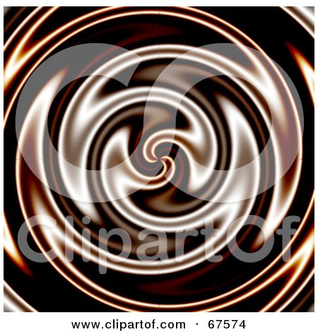 Royalty-Free (RF) Clipart Illustration of a Whirlpool Background Of Liquid Chocolate by Arena Creative
