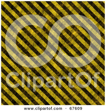 Royalty-Free (RF) Clipart Illustration of a Worn Hazard Stripe Background; Black And Yellow by Arena Creative