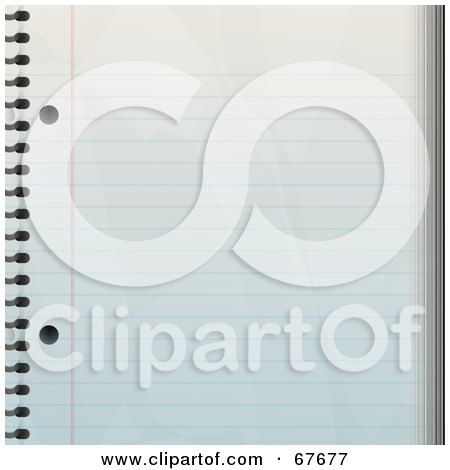 Royalty-Free (RF) Clipart Illustration of a Blank Ruled Notepad Paper Background by Arena Creative