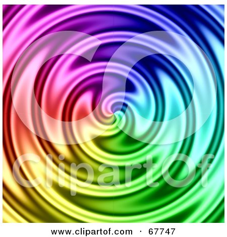 Royalty-Free (RF) Clipart Illustration of a Whirlplool Background Of Rainbow Water by Arena Creative
