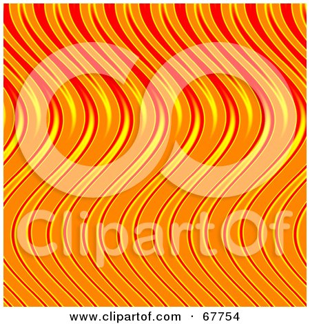 Royalty-Free (RF) Clipart Illustration of a Wavy Orange And Red Flame Background by Arena Creative